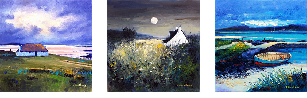 FRASER MILNE /'MOON OVER THE ISLE OF IONA/' FRAMED SIGNED PRINT